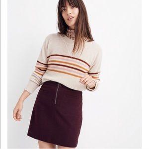 Fireside Madewell Burgundy Miniskirt Size 00